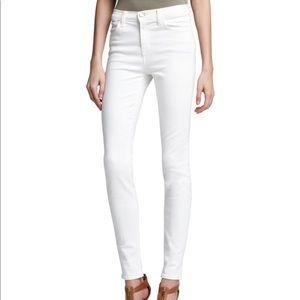 JBrand Maria High Rise White Skinny Jeans